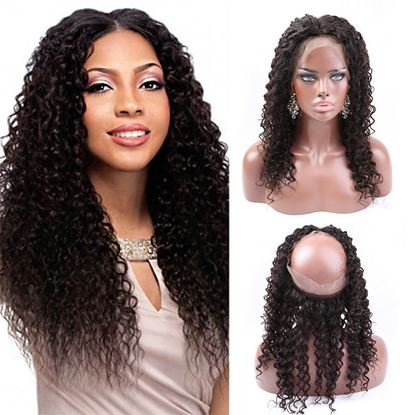 360 curly frontal closure
