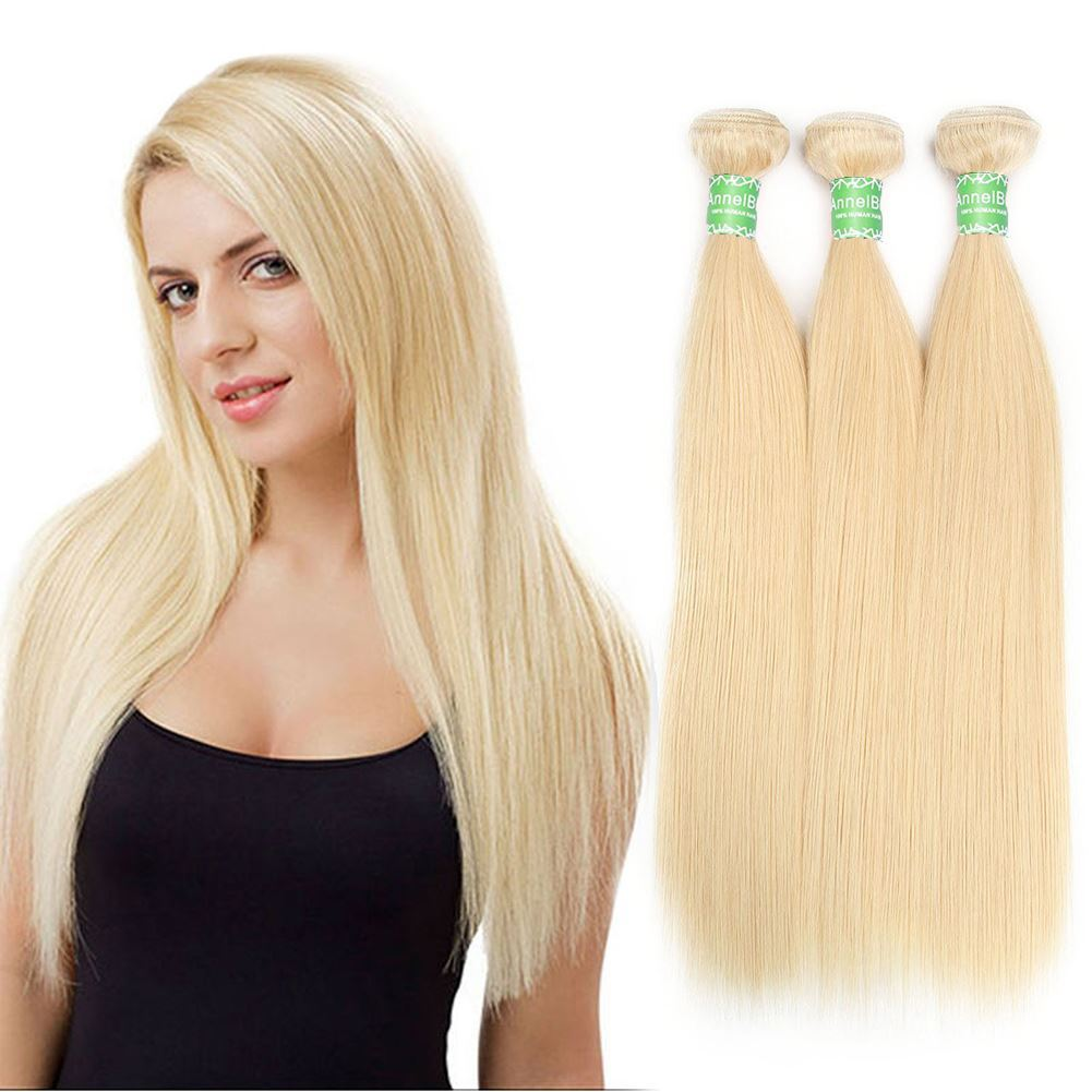 blonde human hair 3 bundles