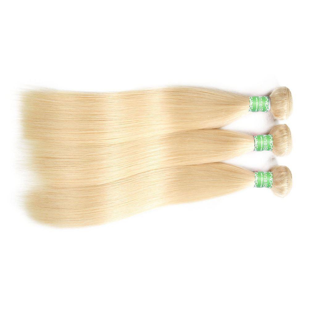blonde human hair 3 bundles