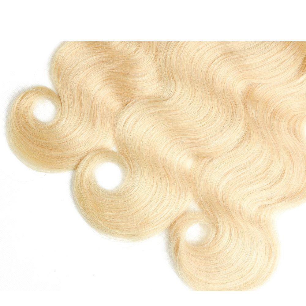 blonde human hair body wave 3 bundles