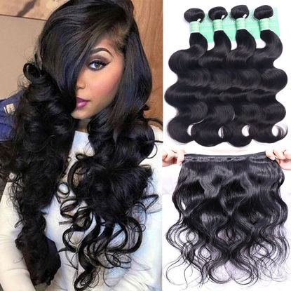 ANNELBEL Brazilian Hair Body Wave 4 Bundles