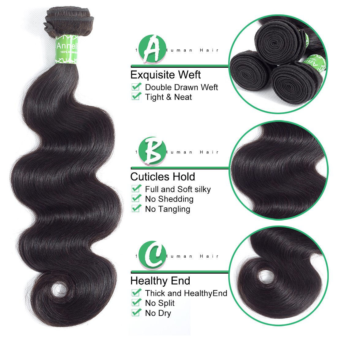 Brazilian Virgin Hair 4 Bundles Body Wave