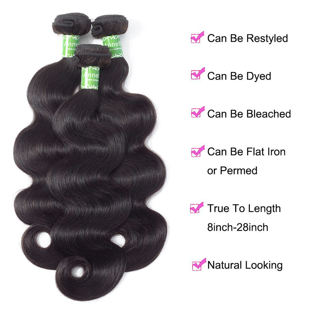 Brazilian Virgin Human Hair 4 Bundles Body Wave