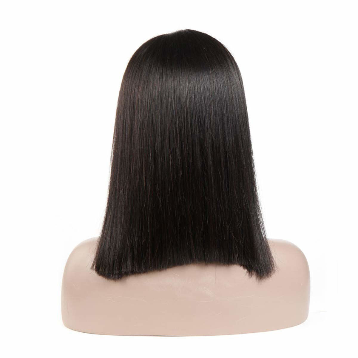 Natural Black Bob Wigs Brazilian Virgin Hair Straight 13x6 Deep Part Bob Lace Front Wig for Women Pre Plucked Natural Hairline Short 8 Inch