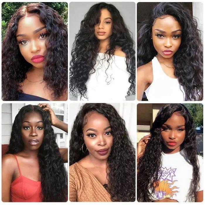 Brazilian Virgin Hair Water Wave Bundles Unprocessed Human Hair Extensions Water Wave Wholesale Hair