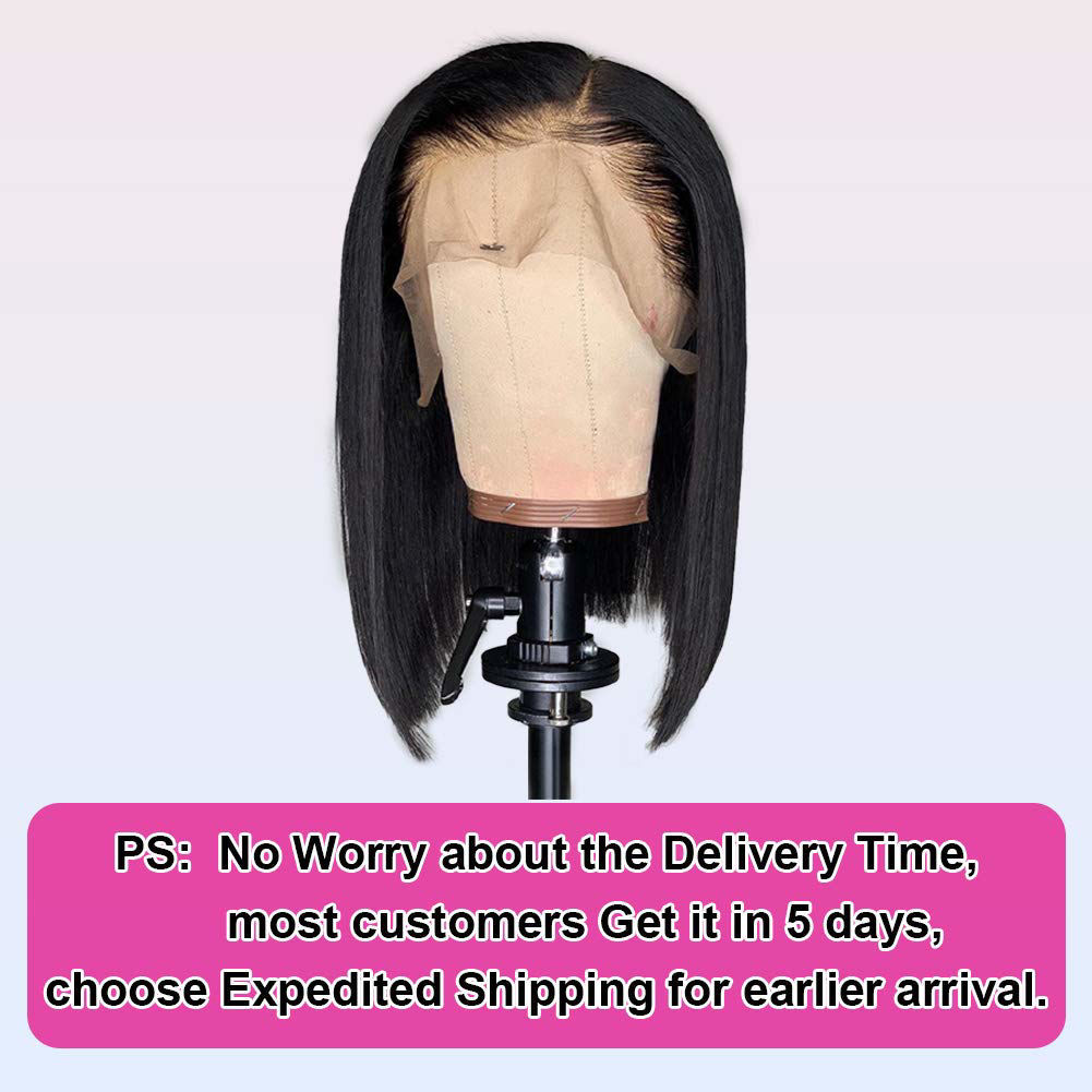 Short-Bob-Wig-Brazilian-Virgin-Straight-Hair-Bob-Wig-Lace-Front-Human-Hair-Wig-for-Black-Women-Remy-Hair-Wigs