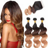 Ombre Bundles with Closure Brazilian Body Wave 3 Bundles 10A Ombre Bundles of Brazilian Hair with Lace Closure Free Part 1B#4#27#