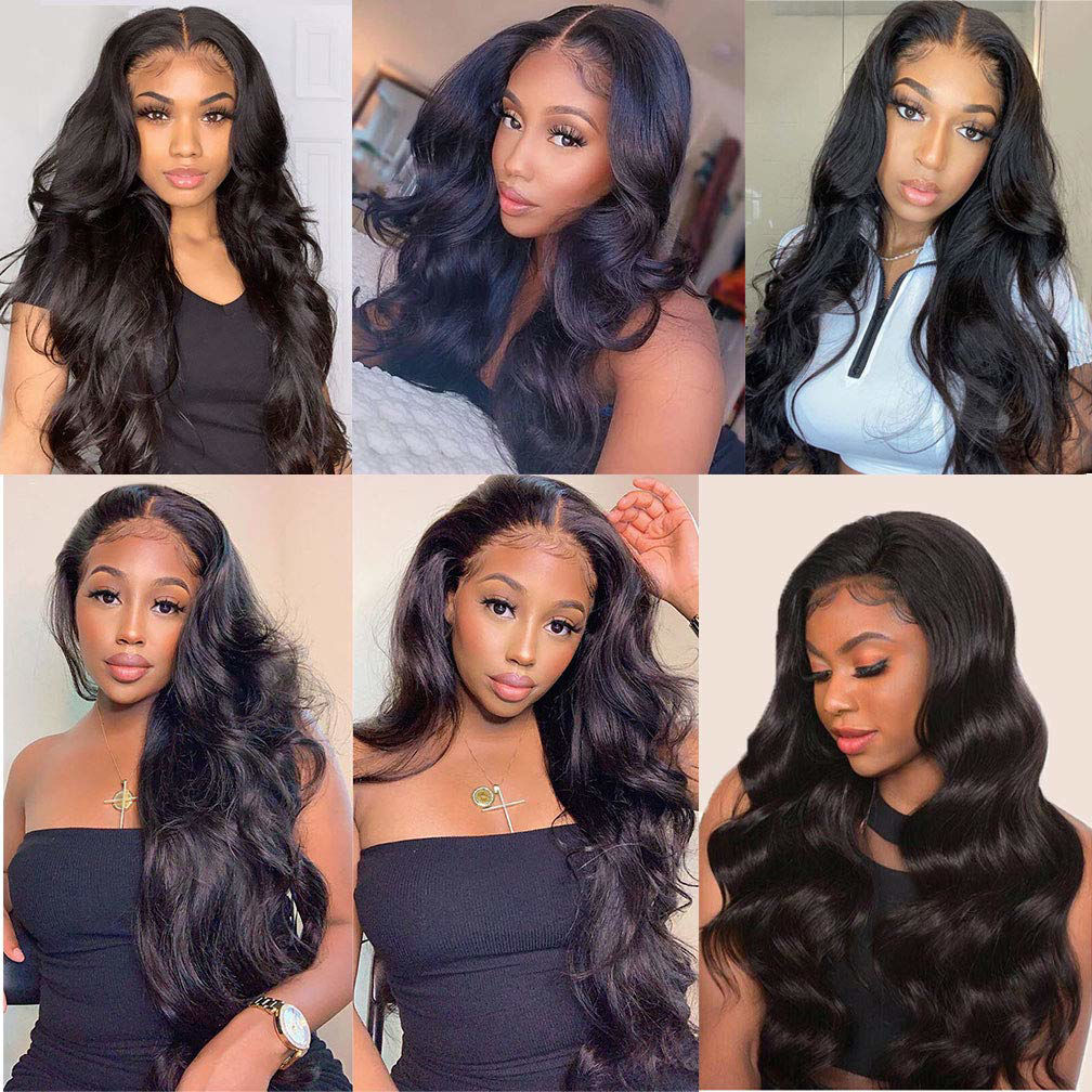 Remy Human Hair Wigs Body Wave Lace Closure Wig Human Hair 4×4 Lace Closure Wig for Black Women 6