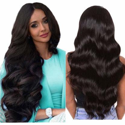 Wigs Human Hair Lace Closure Wig Body wave Deep Wave Bundles Straight Wig Virgin Hair for Black Women 1