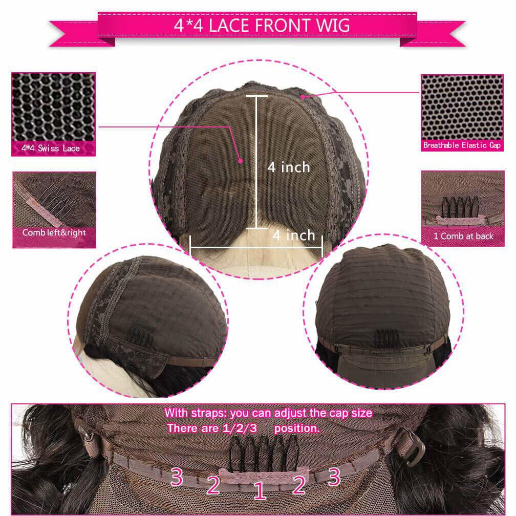 Wigs Human Hair Lace Closure Wig Body wave Deep Wave Bundles Straight Wig Virgin Hair for Black Women 5