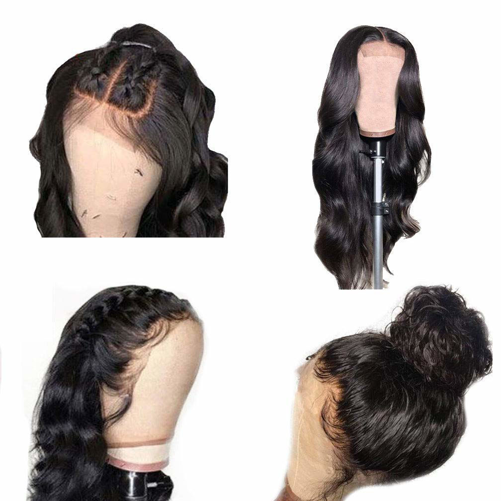 Body Wave Closure Wig Human Hair 4x4 Lace Closure Wigs Human Hair Body Wave Natural Human Hair Wigs for Black Women Pre Plucked Wavy Human Hair 4