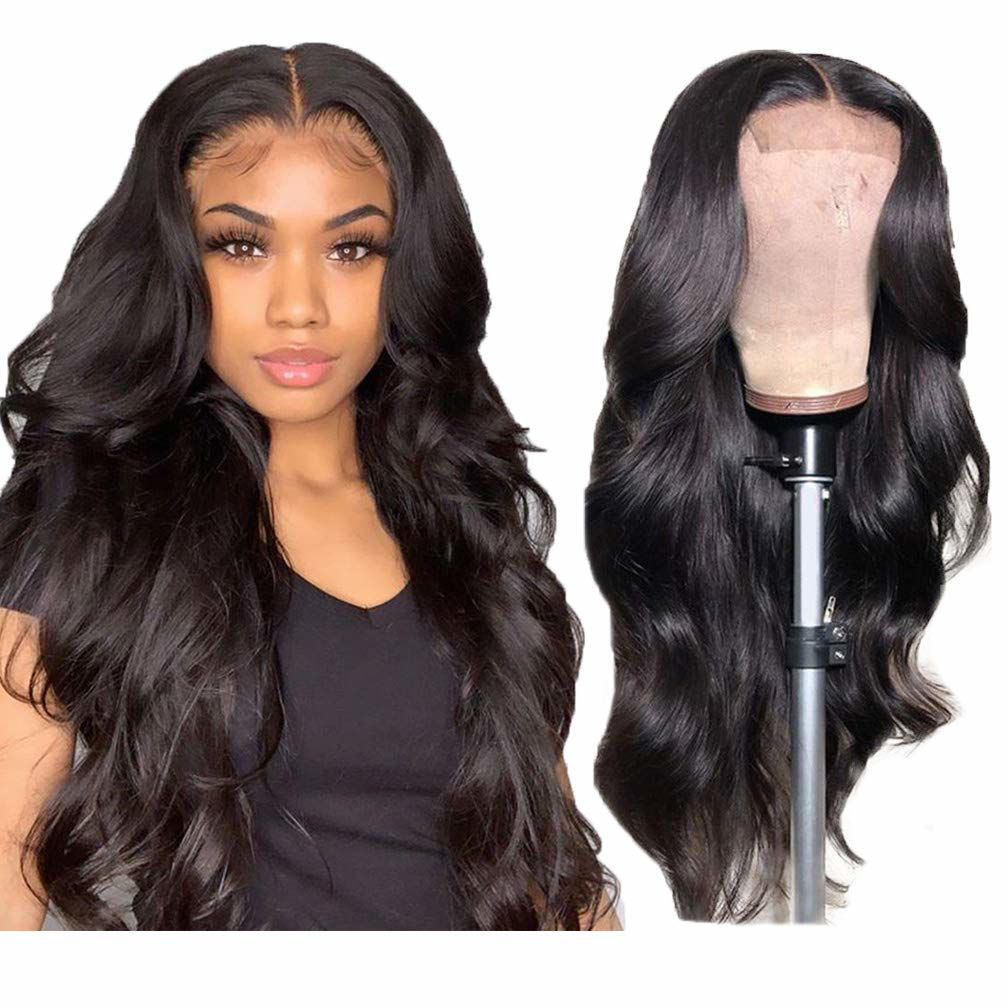 4x4 Lace Closure Wigs Human Hair Body Wave Closure Wig Human Hair Body Wave Natural Human Hair Wigs for Black Women Pre Plucked Wavy Human Hair 1