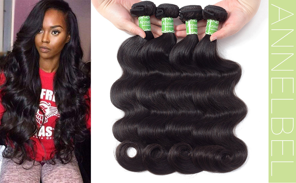 Brazilian Body Wave Human Hair Bundles Weave Hair Human Bundles Brazilian Virgin Hair For African Americans Women 4 Bundles